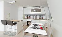 Наклейка 3Д виниловая на стол Zatarga «Окна» 600х1200 мм для домов, квартир, столов, кофейн, кафе, фото 1