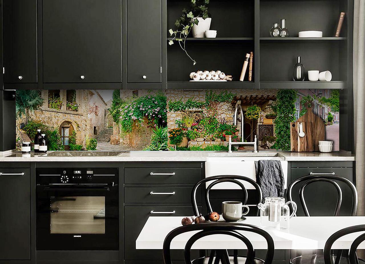 Скинали на кухню Zatarga «Зеленый Прованс» 600х3000 мм виниловая 3Д наклейка кухонный фартук самоклеящаяся