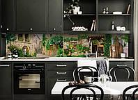 Скинали на кухню Zatarga «Зеленый Прованс» 600х3000 мм виниловая 3Д наклейка кухонный фартук самоклеящаяся, фото 1