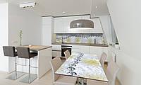 Наклейка 3Д виниловая на стол Zatarga «Серебряные бусы» 650х1200 мм для домов, квартир, столов, кофейн,, фото 1