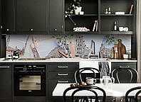 Скинали на кухню Zatarga «Лондон и Ромашки» 600х2500 мм виниловая 3Д наклейка кухонный фартук самоклеящаяся, фото 1
