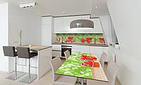 Наклейка 3Д виниловая на стол Zatarga «Клубника на столе» 650х1200 мм для домов, квартир, столов, , фото 1