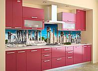 Скинали на кухню Zatarga «Руины Храма» 600х3000 мм виниловая 3Д наклейка кухонный фартук самоклеящаяся, фото 1