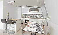 Наклейка 3Д виниловая на стол Zatarga «Будапешт» 600х1200 мм для домов, квартир, столов, кофейн, кафе, фото 1
