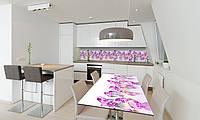 Наклейка 3Д виниловая на стол Zatarga «Розовые Алмазы» 650х1200 мм для домов, квартир, столов, кофейн,