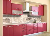 Скинали на кухню Zatarga «Винтажная Италия» 600х2500 мм виниловая 3Д наклейка кухонный фартук самоклеящаяся