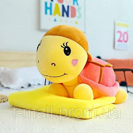 Плед мягкая игрушка 3 в 1  Черепашка розовая  (10)