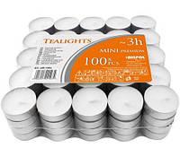 Свечи чайные Bispol Mini Premium 3 часа 100шт
