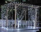 Гирлянда наружная Штора светодиодная, 150 LED, Белая, флеш с мерцанием, черный провод, 3х1м., фото 5