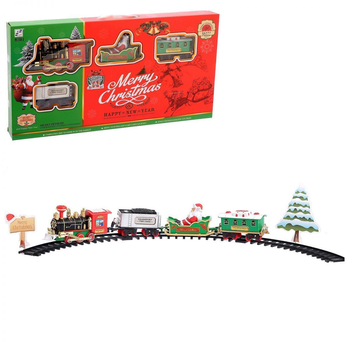 "Железная дорога ""MERRY CHRISTMAS"" 238-3, свет, звук"