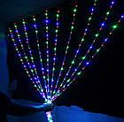 Гирлянда наружная Штора светодиодная, 150 LED, Мультицветная, флеш с мерцанием, черный провод, 3х1м., фото 4