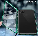 Магнитный металл чехол FULL GLASS 360° для Xiaomi Redmi 9C, фото 6