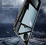 Магнитный металл чехол FULL GLASS 360° для Xiaomi Redmi 9C, фото 3