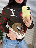 Теплый вязаный свитер под горло Gerekli Турция, фото 1