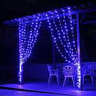 Гирлянда наружная Штора светодиодная, 150 LED, Голубая (Синяя), флеш с мерцанием, черный провод, 3х1м., фото 3