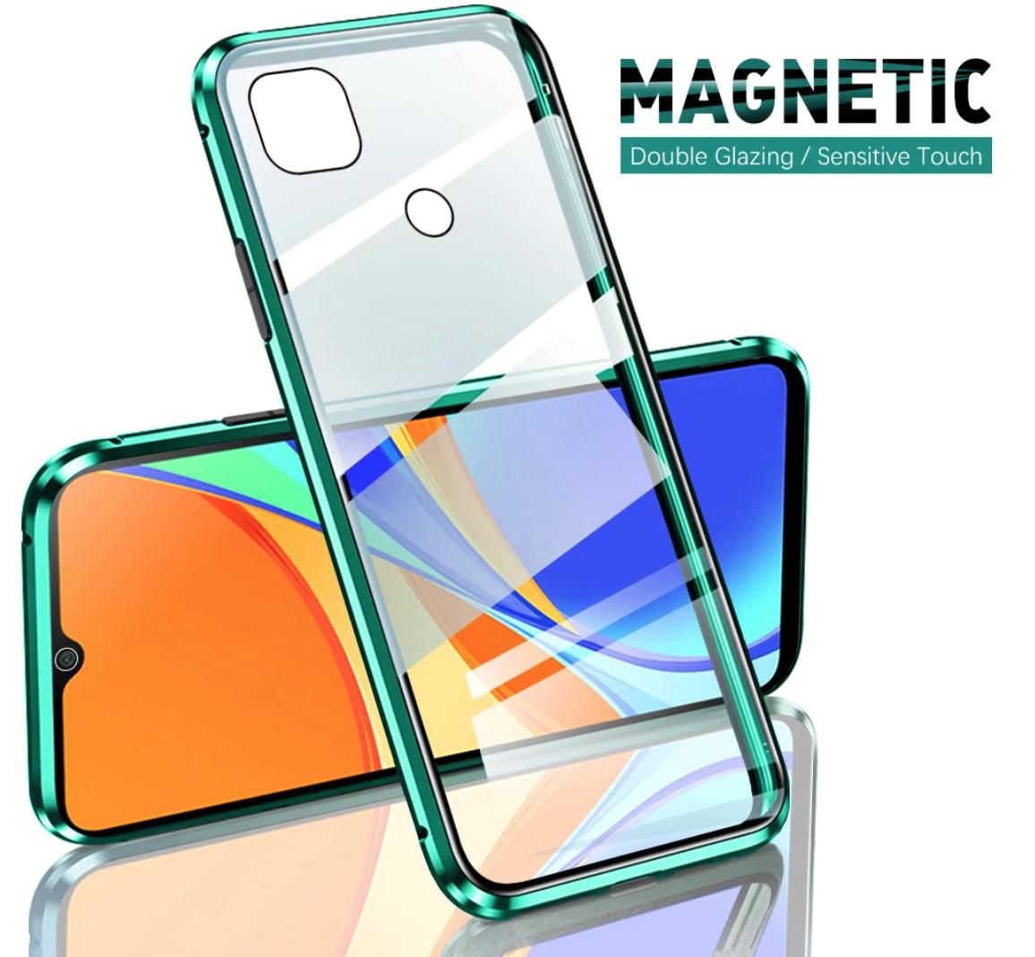 Магнитный металл чехол FULL GLASS 360° для Xiaomi Redmi 9C