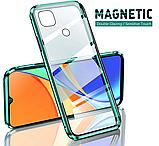 Магнитный металл чехол FULL GLASS 360° для Xiaomi Redmi 9C /, фото 2