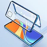Магнитный металл чехол FULL GLASS 360° для Xiaomi Redmi 9C, фото 4