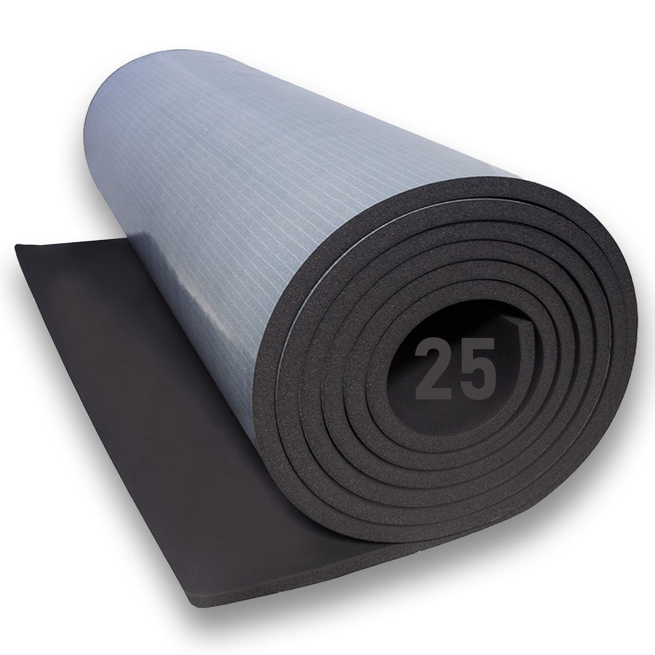 Вспененный каучук 25 мм самоклеющийся (утеплитель, шумоизоляция) цена за рулон