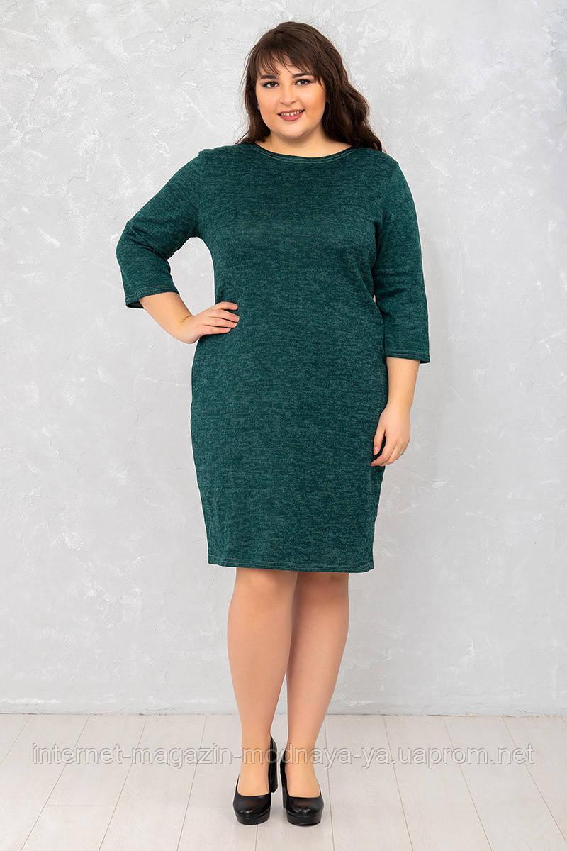 Женское платье Футляр монотон р. 50-62