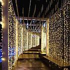 Гирлянда наружная Штора светодиодная, 150 LED, Золотая (Теплый белый), флеш с мерцанием, белый провод, 3х1м., фото 7