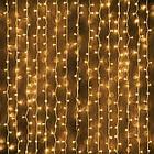 Гирлянда наружная Штора светодиодная, 150 LED, Золотая (Теплый белый), флеш с мерцанием, белый провод, 3х1м., фото 8