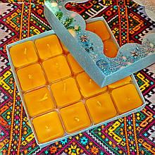 Подарочный набор квадратных чайных восковых свечей (16шт.)