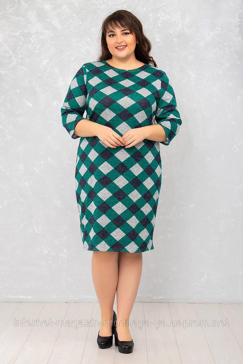 Женское платье Футляр №7 р. 50-62 ромбы
