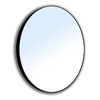 Зеркало круглое 60*60см на стальной крашенной раме, черного цвета