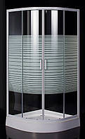 """TISZA (AMUR) душевая кабина 90*90*185см (стекла + двери), профиль белый, стекло """"Frizеk"""""""