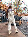 Жіночий теплий костюм з об'ємною толстовкою на блискавці і хутряною опушкою (р. S, M) 71ks1526, фото 2