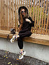Жіночий теплий костюм з об'ємною толстовкою на блискавці і хутряною опушкою (р. S, M) 71ks1526, фото 4