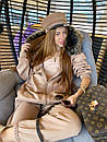 Жіночий теплий костюм з об'ємною толстовкою на блискавці і хутряною опушкою (р. S, M) 71ks1526, фото 5