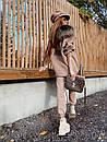 Жіночий теплий костюм з об'ємною толстовкою на блискавці і хутряною опушкою (р. S, M) 71ks1526, фото 8