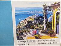 """Картина-раскраска по номерам на холсте 40*50 """"Колонала"""" (н-р акр.красок+3 кисти) в карт. кор РН9280"""