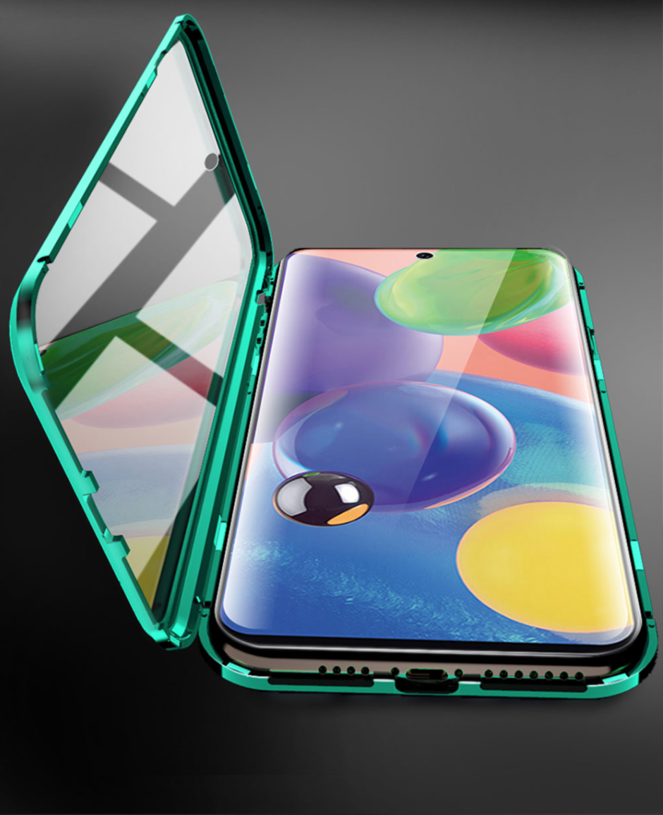 Магнитный металл чехол FULL GLASS 360° для Samsung Galaxy A71