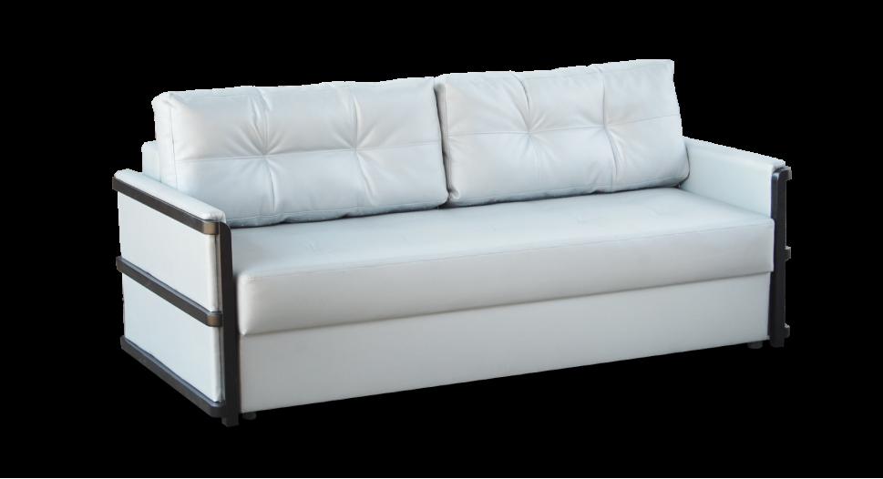 """Білий диван Тіна з дерев'яними вставками фабрики """" Біс-М"""