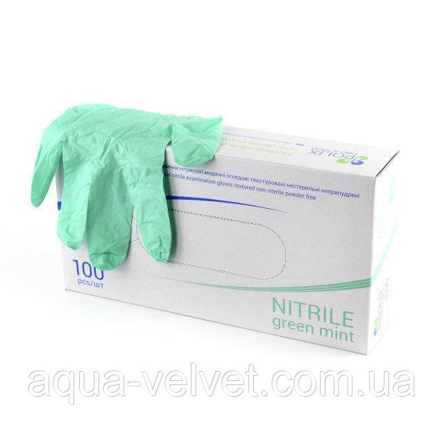 Перчатки Polix PRO&MED Green Mint S (буз пудры)