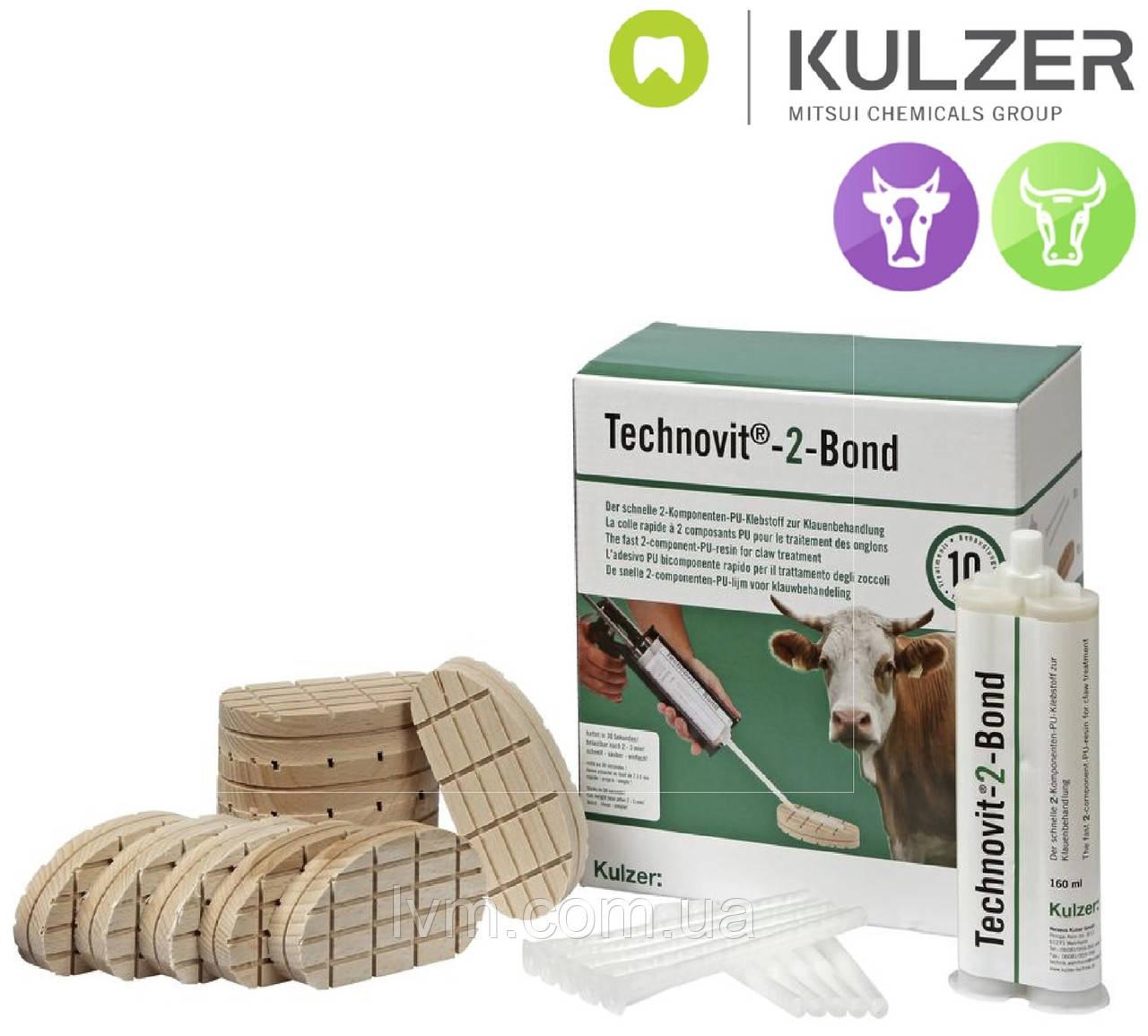 Комплект для лечения копыт Technovit-2-BOND Техновит-2-Бонд, на 10 колодок, без дозатора KULZER