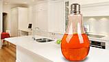 Стеклянный стакан-бутылка Лампочка 200 мл, фото 4