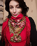 Незнакомка 779-3, павлопосадский платок шерстяной  с шелковой бахромой, фото 6