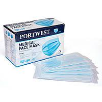 Медицинская маска типа IIR (в индивидуальной упаковке) поштучно Portwest P030