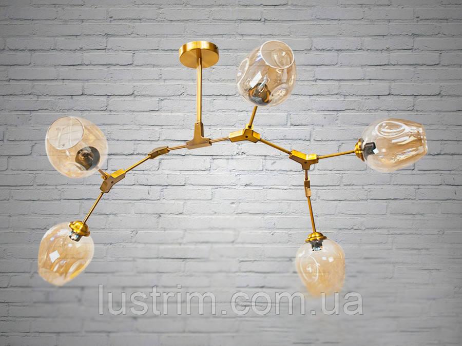 """Люстра в стиле Loft - """"Молекула"""" на 5 ламп"""