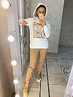 Теплый женский спортивный костюм с рисунком на худи (р. 42-48) 27spt1183