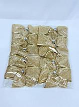 Бант новогодний перламутр 10 см, в упаковке 10 штук, фото 3
