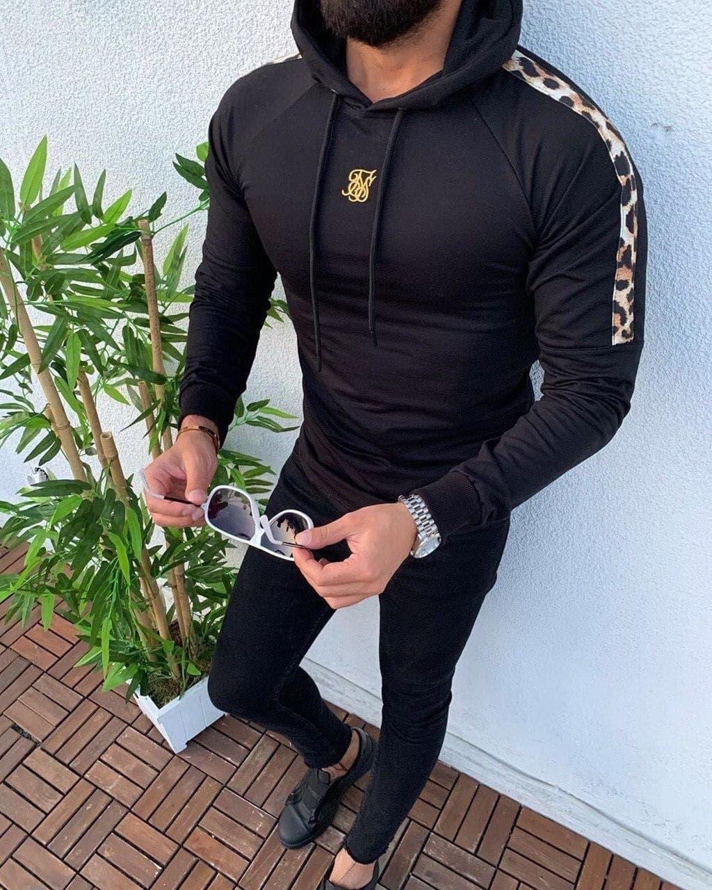 Кофта-худі чоловіча чорного кольору