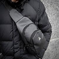 Мужская сумка на грудь PP Skull Bazer слинг, фото 1