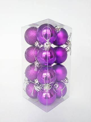 Елочные шары 16 шт. в упаковке ( диаметр 4 см ), фото 2