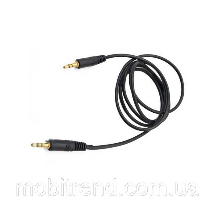 AUX кабель 3.5mm Mini jack 1.5m Черный