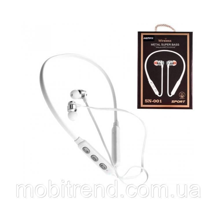 Bluetooth наушники с микрофоном Remax SN-001 Белый